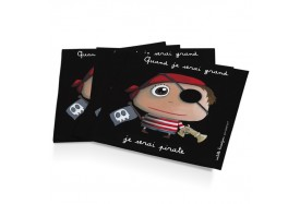 12 serviettes en papier Pirate